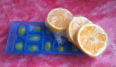 fruchtige Eiswürfel