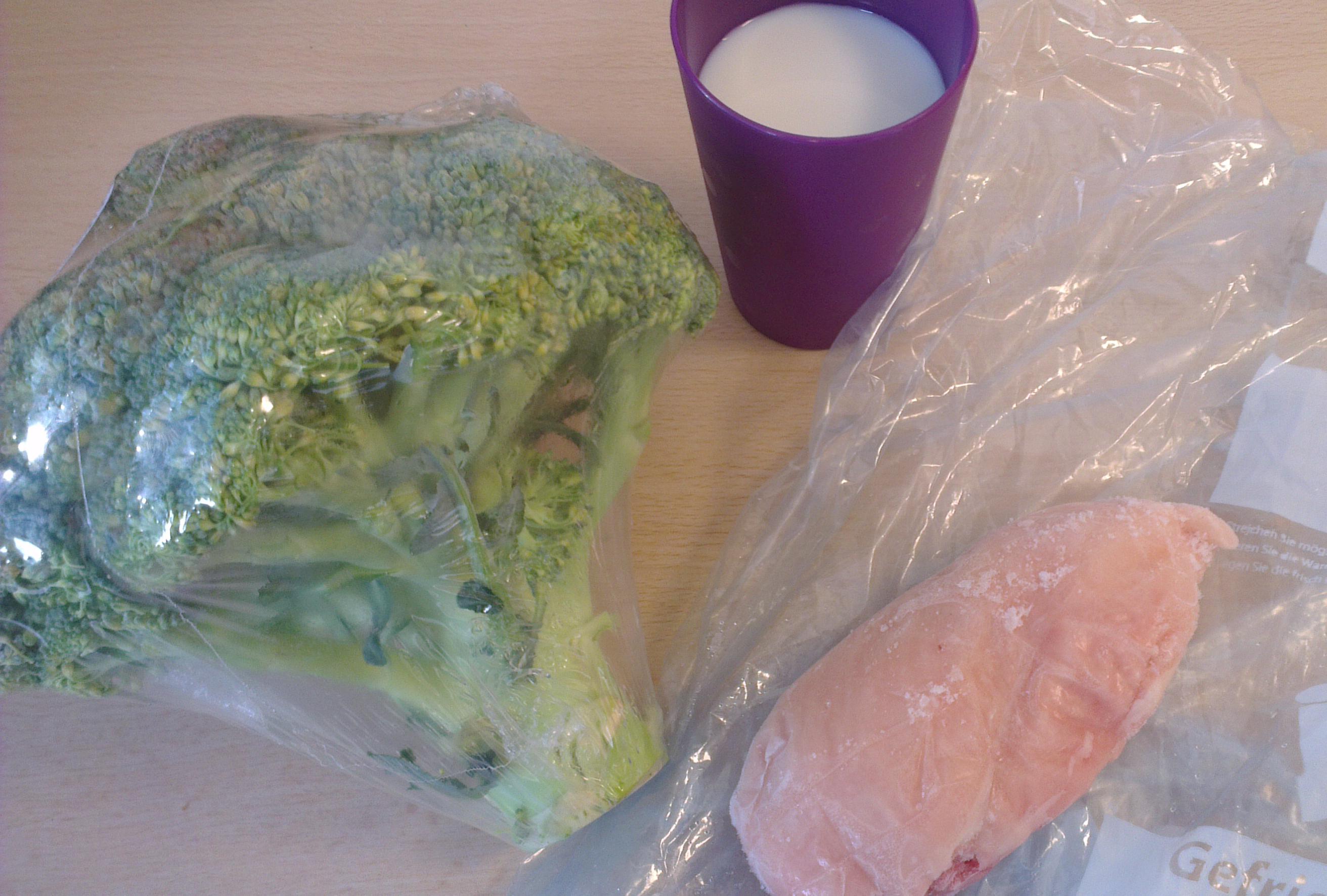 Diesmal ein Abendessen mit Hühnchen und Broccoli